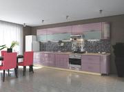 Кухня Элит Голубой-Розовый металлик