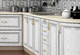 Кухня Платинум Белая структура патина серебро
