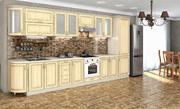 Кухня Платинум Дуб беленный золотая патина