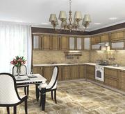 Кухня Платинум Ель Карпатская патина коричневая