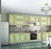 Кухня Платинум Радиал 38 золотая патина