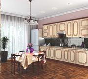 Кухня Платинум Рельеф Пастель бронзовая патина