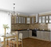 Кухня Платинум Сонома темная-белая патина