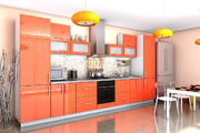 Кухня Гламур Оранж металлик