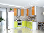 Кухня Фрейм Оранж-Лайм глянец