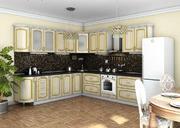 Кухня Платинум Ясень Голд золотая патина