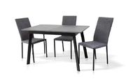 Стол обеденный Этна (черный/т.серый)
