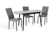 Стол обеденный Соло (серый/черный)